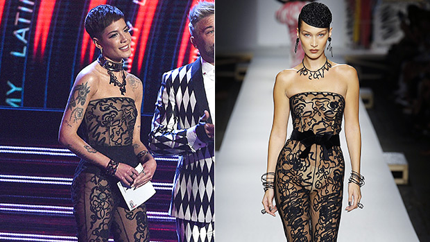 d062aae11baa Halsey Vs Bella Hadid  Who Rocks The Sheer Black Jumpsuit Best ...
