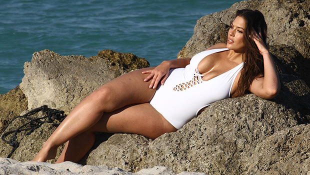 Ashley Graham Stuns In Sexy Cut-Out Swimsuits As She Relaunches Her