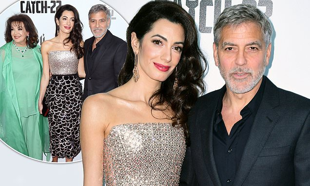 George and Amal Clooney attend Catch-22 premiere in London