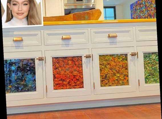 Obsessed with Gigi Hadid's Rainbow Pasta Cabinets? Meet ...
